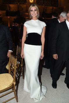 Ivanka Trump in Oscar de la Renta at US Inauguration Candlelight Dinner