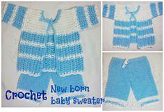 Ravelry: Crochet new born baby sweater set pattern by Erangi Udeshika