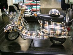 Plaid Vespa - to go with the plaid seat in an earlier pin!