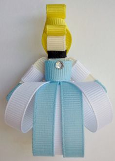Cinderella Ribbon Hair-clip (Ribbon Sculpture). $8.50, via Etsy.