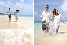 Tropical trash the dress session on the beach