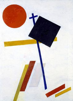 Suprematism was an art movement that focused on basic geometric forms and I feel the painting linked above clearly shows the influence of Suprematism. Russian Constructivism, Kazimir Malevich, Avant Garde Artists, Art Graphique, Kandinsky, Russian Art, Geometric Art, Op Art, Art Projects
