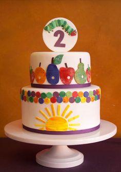 Hungry Caterpillar cake party-hungry-caterpillar