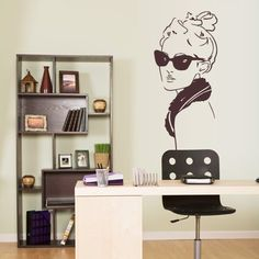 Wall Vinyl Sticker Decals Decor Art Bedroom Design Mural Retro Poster Fashion Girl Model (Z2931) StickersForLife http://www.amazon.com/dp/B00LSW91C2/ref=cm_sw_r_pi_dp_xX6fvb1GK15S5
