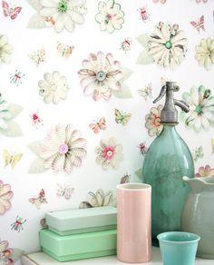 Flowers   Studio Ditte   Designers   Papel de parede dos anos 70