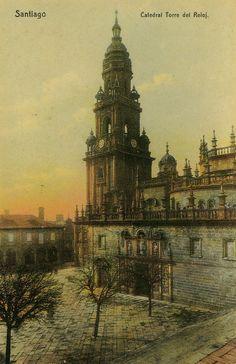 Praza da Quintana, Santiago de Compostela - 1905. Fotografía de Ksado. Ollar Galicia