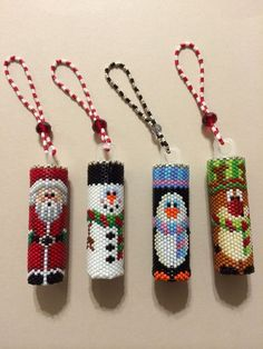 for Free Peyote Stitch Patterns Beaded Christmas Ornament Beaded Beads, Beaded Jewelry Patterns, Bracelet Patterns, Peyote Stitch Patterns, Bead Loom Patterns, Peyote Beading Patterns, Beaded Christmas Ornaments, Christmas Jewelry, Crochet Christmas