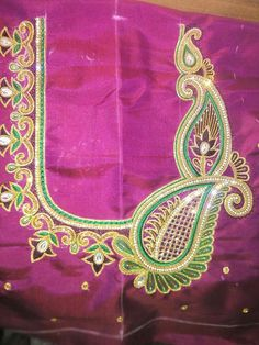 Wedding Saree Blouse Designs, Best Blouse Designs, Simple Blouse Designs, Silk Saree Blouse Designs, Embroidery Designs Free Download, Hand Work Blouse Design, Maggam Work Designs, Neckline Designs, Bead Embroidery Jewelry