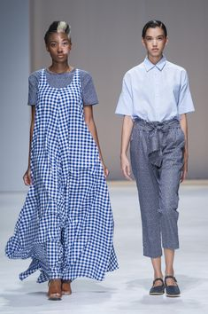 Amanda Laird Cherry   Spring Summer 2018    Looks 7 & 8   Photo by Eunice Driver for South African Fashion Week South African Fashion, African Fashion Designers, Short Sleeve Dresses, Dresses With Sleeves, Spring Summer 2018, Amanda, Cherry, Shirt Dress, Shirts