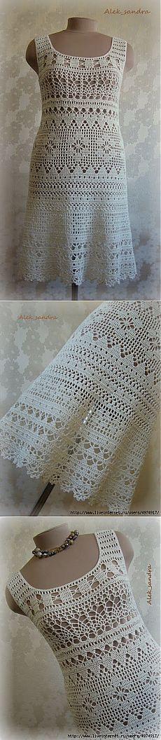 Филейное платье от Alek_sandra.