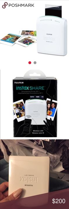 Fujifilm Instax Share Smartphone Wireless Printer Barely used like new. Comes with original box. Prints Polaroid pictures from your phone. fujifilm Accessories