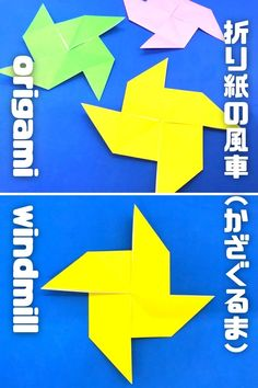 Origami Windmill, Logos, How To Make, Handmade, Hand Made, Logo, Handarbeit