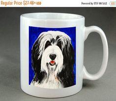 Bearded Collie Mug Dog Coffee Tea Cocoa Ceramic by RMBArtStudio