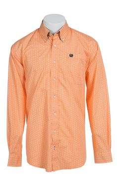 Cinch® Long Sleeve Men's Fine Weave Shirt 1103924