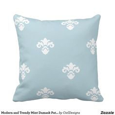 Modern and Trendy Light Grey Damask Pattern Throw
