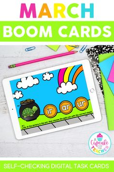 Use these math and literacy digital task cards in your classroom or during distance learning! Boom Cards are self-checking and easy to assign. Students will practice reading, writing, and math skills!