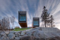Built by Mackay-Lyons Sweetapple Architects in , Canada with date 2011. Images by Greg Richardson. This project is situated in a glaciated, coastal landscape, with a cool maritime climate. The geomorphology of the si...