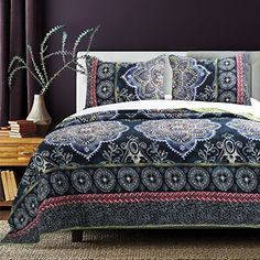 4110ced35ed0 Barefoot Bungalow Twyla Midnight Quilt Set, 3-Piece King ... https: