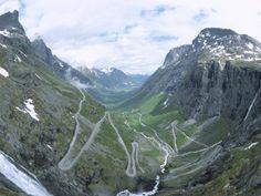 Route from Andalsnes to Geiranger, Trollstigen Road, Western Fiordlands, Norway, Scandinavia