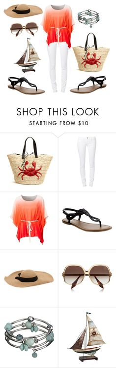 """Stay till the sunsets <3"" by emmajeaneoutfits ❤ liked on Polyvore featuring Felix Rey, Mavi, Fount, Old Navy, Eugenia Kim, Victoria Beckham and Pier 1 Imports"