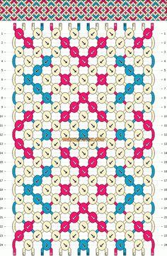 Friendship Bracelet Pattern #9456 Added by yonnahali