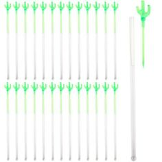 """Plastic Cactus Stir Sticks with Picks - Pack of 25 by Fun Express. $4.95. Great for parties.. Sturdy, cross-functional design.. Dimensions: 7""""L stirrer with a 3 1/2"""" cactus pick.. Made of plastic.. Each stir stick holds a removable cactus-shaped cocktail pick. If James Bond was throwing a party, he would definitely use these ingenious combination cocktail picks/stir sticks! And who doesn't want to go to a party hosted by James Bond? Sold in a pack of 25, these ..."""