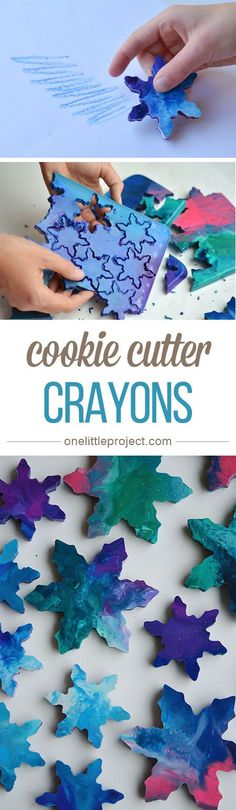 These cookie cutter crayons are SO PRETTY! What a great way to use up leftover crayon pieces!
