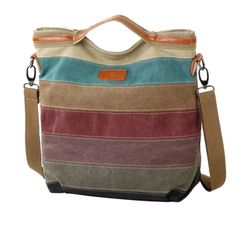 This bag is made of canvas and other.Fashion vintage design,well sewn craftsmanship.This bag is the good choice for business,travel and everyday use.You can take the shoulder bag to work and go...