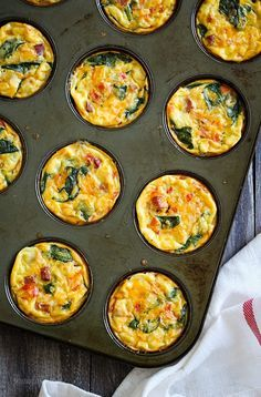 Petite Crust-less Quiche.  Perfect for brunch! #HealthyEating #CleanEating  #ShermanFinancialGroup