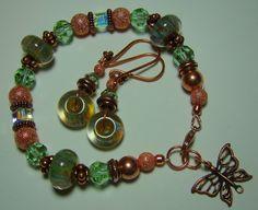 Copper and Boro Glass Bracelet by ReneeNicoleGems1 on Etsy, $50.00