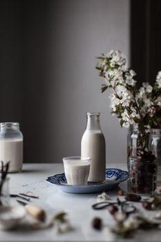 Homemade Almond Milk from @kayleyq