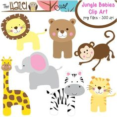 Jungle Babies Clip Art! $