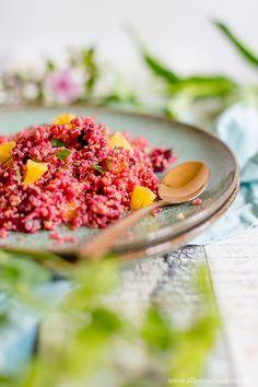 Sommerlicher Quinoa-Rote-Beete-Salat mit Orange und frischer Minze | Alles und Anderes