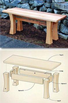 Cedar Garden Bench Plans - Outdoor Furniture Plans and Projects | WoodArchivist.com #WoodworkingBench #WoodWorkingBenchPlans
