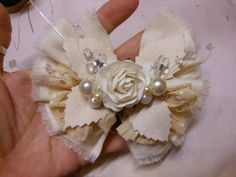 Shabby Chic Bow by jennings644 on Etsy