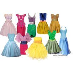Disney Princess Bridesmaid Dresses ;)