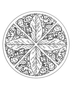 Free coloring page «free-mandala-to-color-leaves».