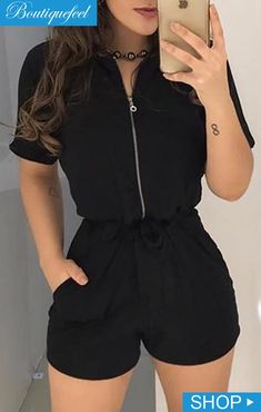 Shop Sexy Trending Rompers – Chic Me offers the best women's fashion Rompers deals Trend Fashion, Teen Fashion Outfits, Look Fashion, Girl Outfits, Womens Fashion, Grunge Fashion, Fashion Clothes, Retro Fashion, Fashion Dresses