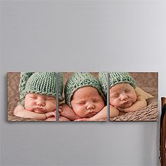 Photo Canvas Split-Panel Print Collection 3pc - 12x12