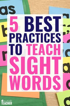 Learnign to teach sight words based on research and best practices will make your life easier as well as help yoru new readers increase mastery and fluency! Preschool Sight Words, Learning Sight Words, Sight Word Practice, Sight Word Games, Sight Word Activities, Free Activities, Preschool Kindergarten, Kindergarten Sight Words List, Preschool Learning