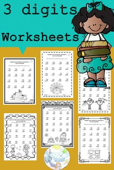 Have students build addition and subtraction fluency with this bundle of 160 no prep worksheets. There are 5 sets of addition worksheets and 5 sets of subtraction worksheets. Each set includes 16 pages of 3 digit facts. They are perfect for review, great for morning work, homework or as an assessment. All worksheets are no prep printables, so just press print and you are ready to teach! Subtraction Activities, Math Activities, Halloween Activities, Addition Worksheets, Number Worksheets, School Resources, Teacher Resources, 2nd Grade Math, Third Grade