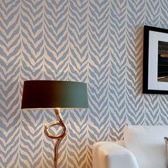 FLOOR - Cutting Edge Stencils - Zebra Stripe Allover Stencil