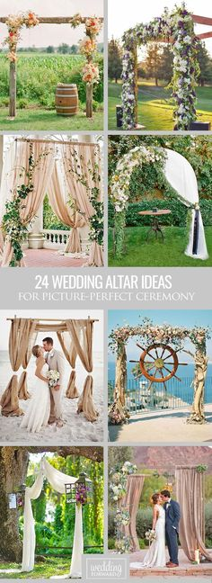 24 Picture-Perfect Wedding Ceremony Altar Ideas ❤ Here are a few of our absolute favorite wedding ceremony altar ideas! See more: http://www.weddingforward.com/wedding-ceremony-altar-ideas/ ‎#weddings #decorations