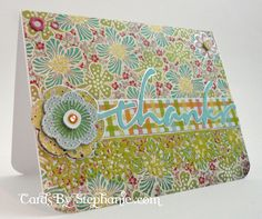 Floral Thank You Card with the Cricut