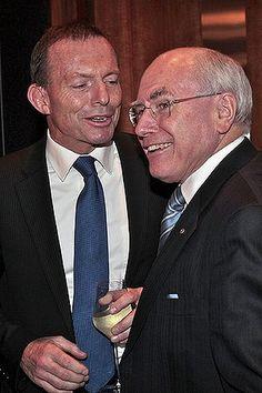 Tony Abbott and John Howard. Photo: Paul Rovere