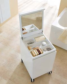 Rolling make up storage,,,,top shelve to be open and 3-4 deep pullout drawers....can make another for jewellry!