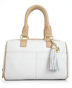 White-hot! Calvin Klein Leather Satchel #bag #purse BUY NOW!
