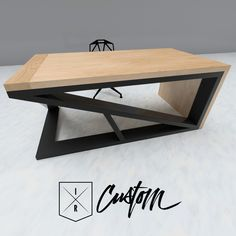 "This cantilevered desk features a 2"" wooden waterfall edge with a structure made of 2x6 tube steel. Sell your customer when they walk in your door. IndustrialReclaim.com"