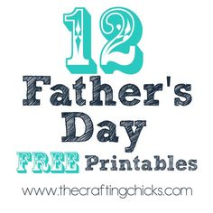 We are rounding up 12 of our favorite Father's Day Free Printable Gift Ideas from around the web! Some from our very favorite blogs! Father's Day is just around