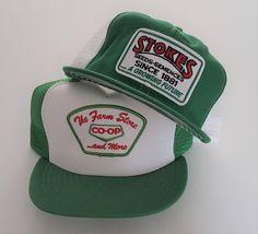 Vintage Lot (2) Trucker Style Snapback Hats VTG 895ab2ca57e3